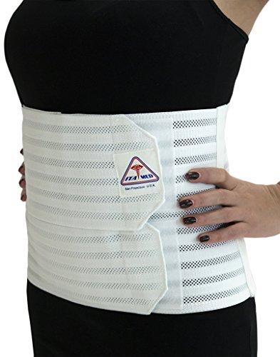ITA-MED-ab-309-W-2-x-L-Blanc-Femmes-de-soutien-abdominal-Post-Accouchement-Classeur-avec-lastique-respirant
