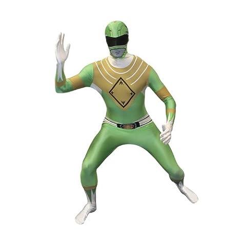 Official Green Power Ranger Morphsuit Fancy Dress Costume - size Small - 4'6-5' (137cm-152cm) - Ranger Verde