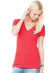T-shirt Jersey manche courte col en V femme Bella