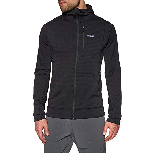 Patagonia R1 Full Zip Hooded Fleece X Large Black (Patagonia-hooded Fleece)