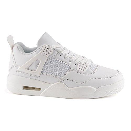 Fivesix Scarpe Sportive Da Uomo Sneaker Basse Scarpe Da Basket Velour-optik  Scarpe Casual Bianche ... 4848d4d0115