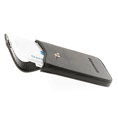 Visitenkarten-Etui Leder | Visitenkarten-Halter | Original Space Wallet® | Handgemachte Visitenkarten-Hülle Herren & Damen | Visitenkarten-Box | Business Card Holder | VK-Etui Damen & Herren (Business Wallet Card Leder)