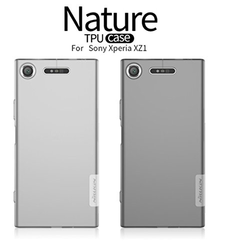 Nillkin Nature Soft TPU Back Cover Case for Sony Xperia XZ1 - Transparent White  available at amazon for Rs.498