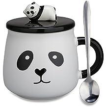 Tazas de cerámica para regalar, diseño de oso panda en 3D, regalo de cumpleaños
