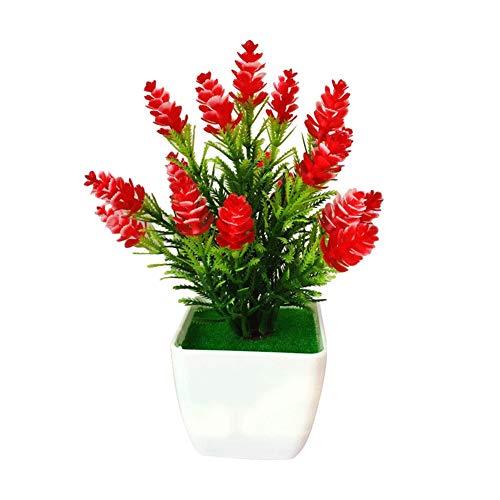 XdremYU 1 Stück Künstliche Tannenzapfen Pflanze Miniascape Hochzeit Home Tisch Bonsai Decor rot - Home Tannenzapfen