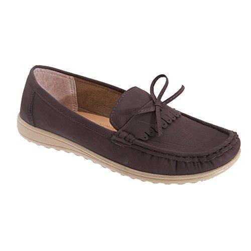 Classique Comfort Damen Loafers Braun