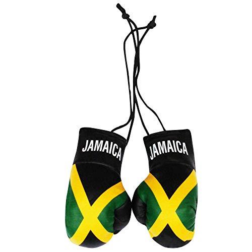 Mini guantoni da Boxe con Bandiera giamaicana per Auto o casa