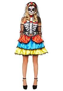Karnival Costumes- Halloween Day of The Dead Senorita Disfraz, Multicolor, extra-large (84184)