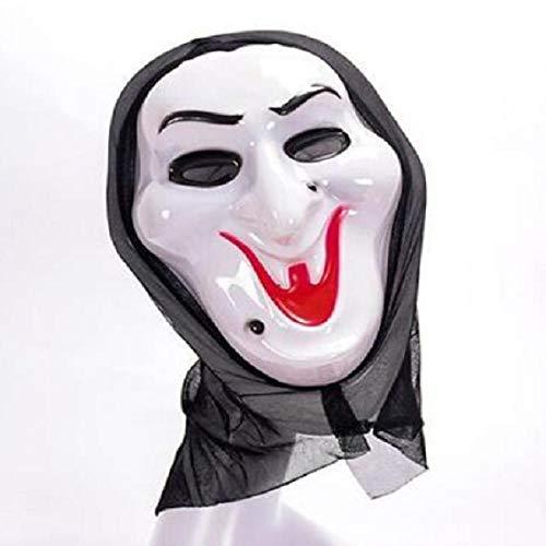HEOWE Halloween Scary Mask Cosplay Kostüm Maske Scream Skull Ghost Mask Fake Face Multi-Form Scary Halloween Cosplay @ - Scream Face Kostüm