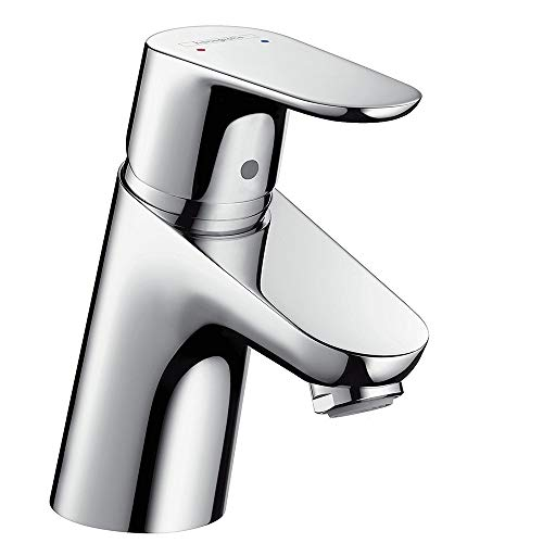 Hansgrohe - Waschtischarmatur, Push-Open Ablaufgarnitur, QuickClean, EcoSmart, Chrom, Serie Focus 70