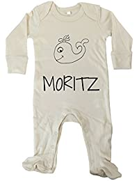 Moritz Premium Babybody Kinder Name Geburtstag Mädchen Junge Kurzarmbody