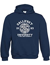 Gallifrey University Mens adult unisex premium Hoodies availabe in multiple colours and sizes. FREE DELIVERY INCLUDED.