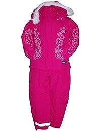 Outburst - Schneeanzug Skianzug Jacke und Hose Baby Mädchen Fleecefutter wasserabweisend, pink