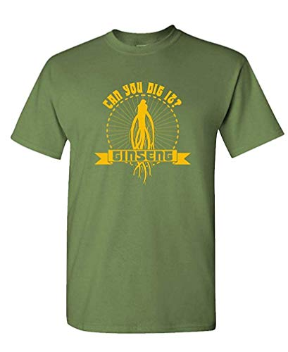 AkhyV Ginseng Can You Dig IT - Outlaws Dig Show - Mens Cotton T-Shirt