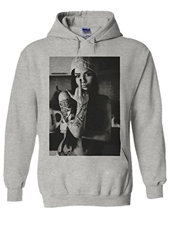 Attitude Kids Sweatshirt (PatPat Store Attitude Tattoo Sexy Girl Novelty Grey Men Women Unisex Hooded Sweatshirt Hoodie-M)