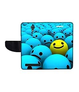 KolorEdge Printed Flip Cover For Asus Zenfone C Multicolor - (47KeMLogo09920ZenC)