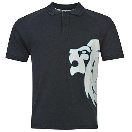 Lonsdale Herren Poloshirt - Bleu marine/blanc