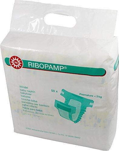 50 Stück Ribopamp Babywindeln unter 3 kg