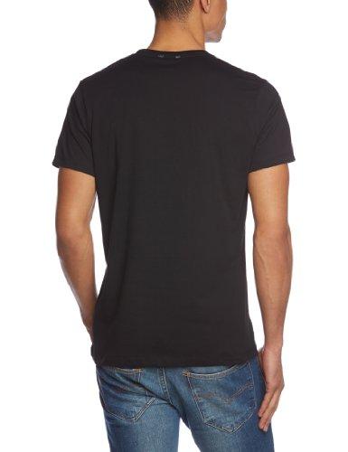Pepe Jeans London Herren T-Shirt Eggo Round Schwarz (Black)