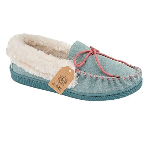 Pantuflas botines para mujer de gamuza sintética, tallas 36-41, color Azul, talla 37 1/3