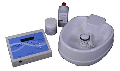 AQUA DETOX Elektrolysefußbad Komplettset inkl. Steuergerät, Gebrauchsanweisung, Fußwanne, Reinigungsfluid, 1 St. Array (Elektrode)