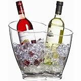 Bar Craft Doppel-Flaschenkühler aus Acryl
