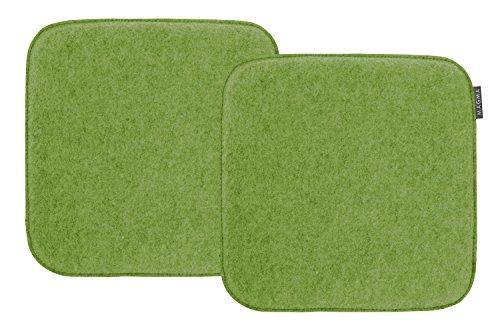 Magma-Heimtex AVARO Stuhlkissen Filzimitat 2-er-Set quadratisch ca. 35x35cm (grün)