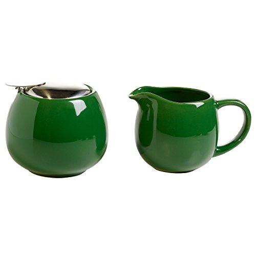 Maxwell & Williams IT21001 Milch & Zucker-Set, Porzellan, grün, 11.7 x 12.4 x 24.9 cm