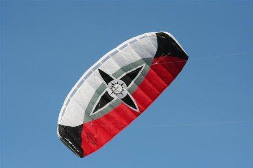 Lenkmatte Sigma Spirit 1.5 schwarz-weiß-rot, rtf, flugfertig, Parafoil, 2-Liner