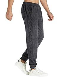 MODCHOK Homme Pantalons de Sport Sweat Pants Bas de Survêtement Sarouel Fit  Slim c2a6d1c1aca