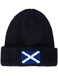 Mountain Warehouse Gorro de Punto con Bandera Escocesa para Hombre - Doble  Forro 30c0cc16163