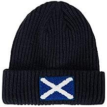 Mountain Warehouse Gorro de Punto con Bandera Escocesa para Hombre - Doble  Forro 9a289cb441f