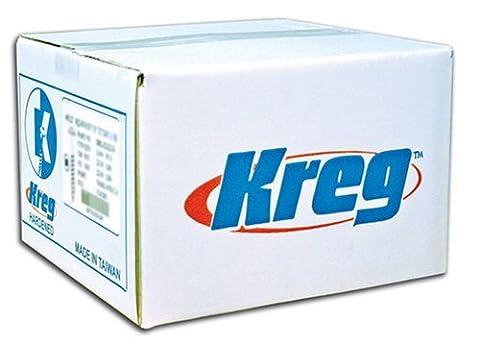 Kreg SML-C250B-2000 Blue-Kote Weather Resistant Pocket Hole Screws - 2 1/2, #8 Coarse, Washer Head, 2000 count by Kreg