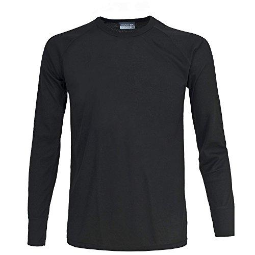 Trespass - Camiseta interior térmica Modelo Honour Unisex Hombre Mujer (Camiseta de manga larga) - Nieve/Esquí/Snowboard (XXL/Negro)
