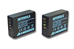 INTENSILO 2x Li-Ion batteria 1140mAh (7.2V) per fotocamera digitale DSLR Fuji / Fujifilm X100F, X-T20, X-T2, X-Pro2 sostituisce NP-W126.