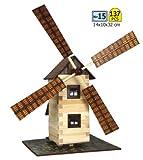 Walachia 8594036430150–Mulino a vento in legno modello set da costruzione, Ferrovia 1/LGB 1: 32