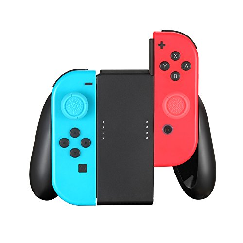 TPFOON Comfort Grip Compatible with Nintendo Switch Joy Con Controller, 2pcs Thumbstick Caps Included