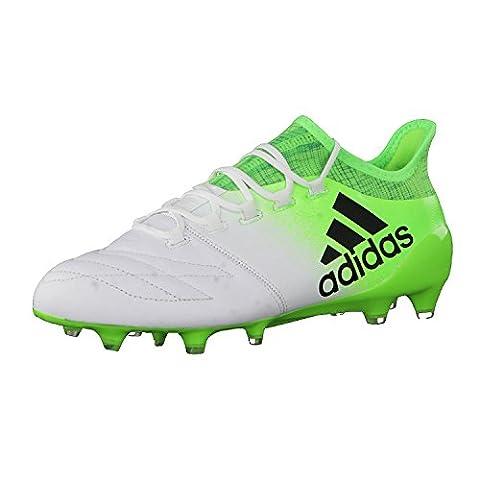Adidas X 16.1Leather FG Fußballschuh Herren, Weiß–(Ftwbla/negbas/Versol)