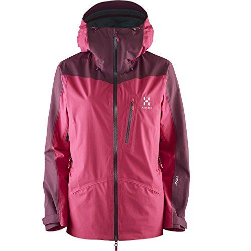 Haglã ¶ FS Niva Jacket–Giacca da neve, donna, volcanic pink/aubergine, S