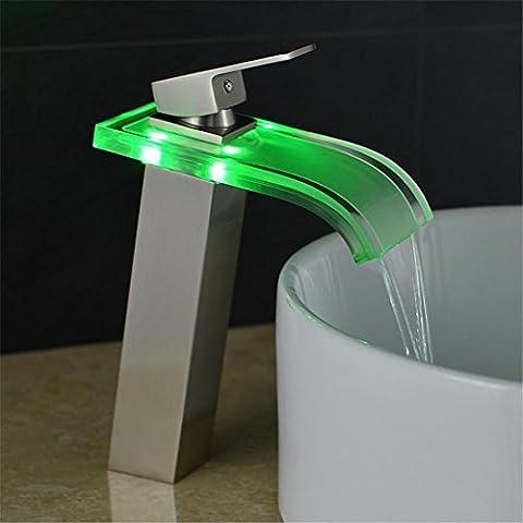 modylee nuovo stile Design a LED che cambia colore acqua di rubinetto miscelatore da lavabo bagno rubinetto per lavabo rubinetto lh-16801, 3