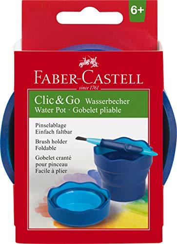 Faber castell 181510 clic and go scodellino per acqua, colore blu