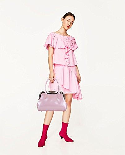 Sunas 2017 estate nuovo Femminile Borsa a mano Moda fibbia in metallo Borsa messenger Retro Portafoglio rosa