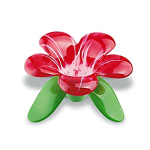 Koziol 3231590 Audrey Passoire à Thé Plastique Transparent/Rouge 11,3 x 11,5 x 6,8 cm