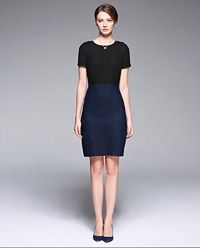 Sarah Dean Newyork - Robe - Robe - Femme bleu Black and Navy Black and Navy