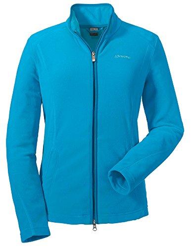 Schöffel Damen Fleece Jacket Leona' Synthetisch, Hawaiian Ocean, 36 - Fleece-stoff Ocean