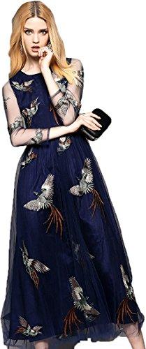 Dress{Choice Fashion Blue_tissue_Free Size Women\'s Dress}