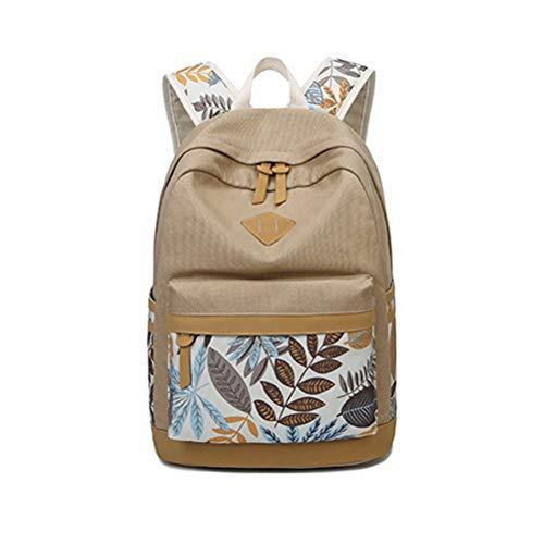 Donna zaino tela colorato borse scuola ragazze cotone studenti canvas student school bag girls borsa libro portatile per pc 14