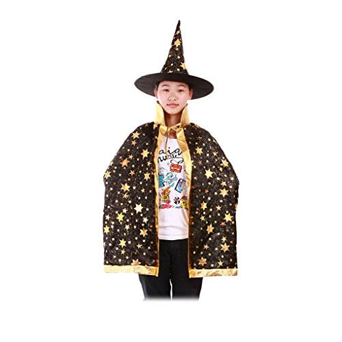 Provide The Best Kinder Jungen Mädchen Happy Halloween Kostüm Zauberer Hexe Umhang Cap für Halloween-Party