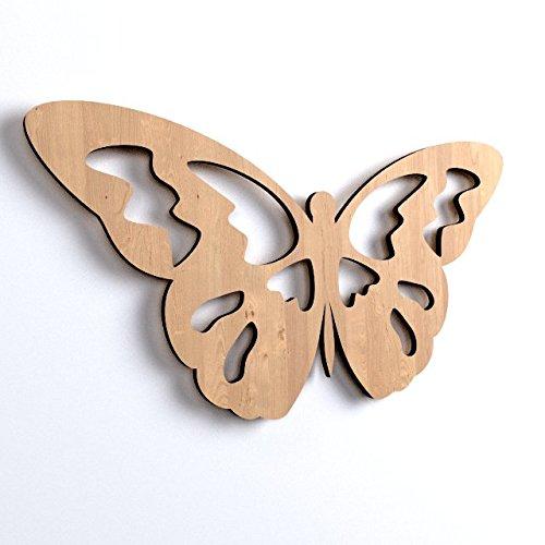 10x Holz Schmetterling (2) Raum Craft Formen, blanko Art DEKORATION (V82)