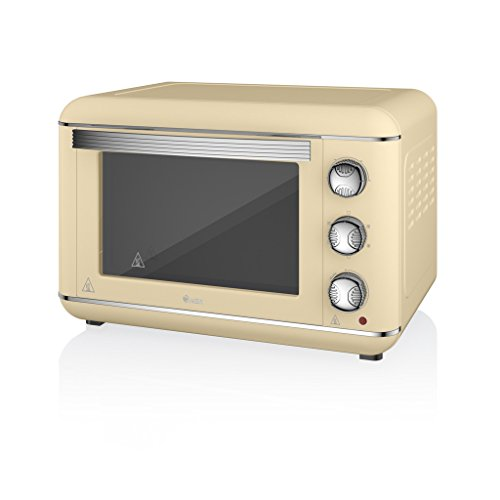Swan Products SF37010CN Retro Electric Oven, 23 Litre, 1500 W, Cream